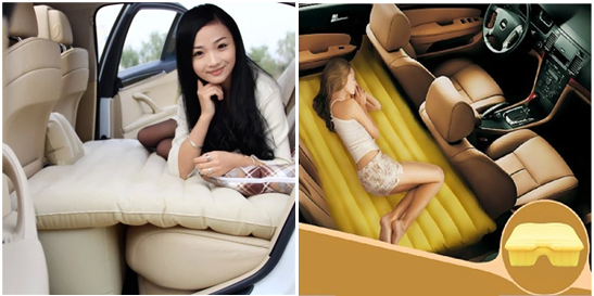 Nệm hơi ô tô khiến phái đẹp thoải mái và hạnh phúc hơn