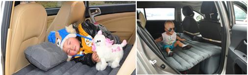 Nệm hơi ô tô như một chiếc giuờng ngủ êm ái dành cho bé cưng