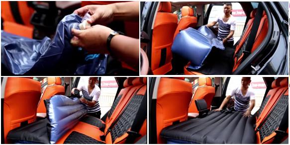 Việc bơm và lắp đặt trong xe rất nhẹ nhàng, đơn giản